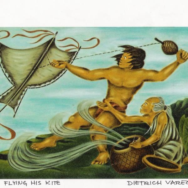 Maui Flying his Kite C5
