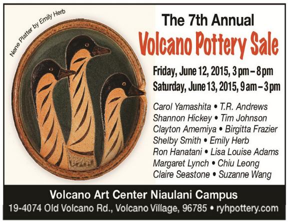 Volcano Pottery Sale