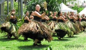 Kumu hula Keala Ching with Nā Wai Iwi Ola