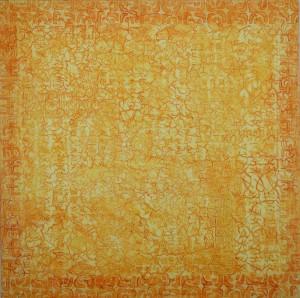"""So Says the Sun 36"""" x 36"""" x 2"""" Acrylic & oil on archival board"""