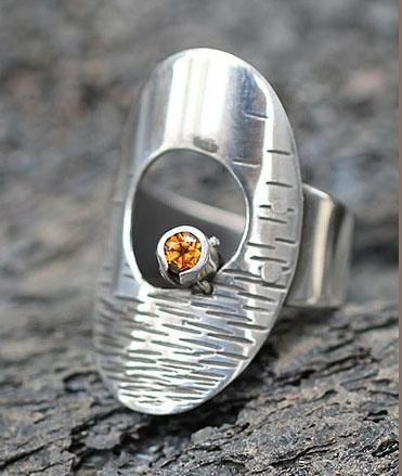 Spessanite Ring