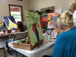 Painting with Peggy students