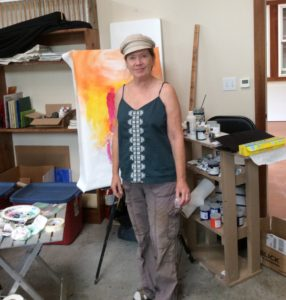 Painting with Peggy students2