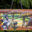 ARTIST- KAITE DAWSON From The Ted Morgado Collection Of African Art- FRAMED- 27x16 (Named- The Gathering)