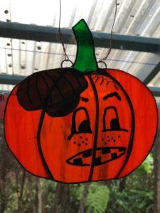 keiki stained glass pumpkin
