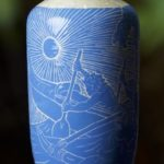 First Edition Dietrich Vaez Vase By Tanya Valentine Featuring Hawaiian Outrigger Design
