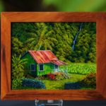 Orginal Oil Painting Wapio Homestead (With Koa Frame)