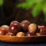 Wood Balls & Platter