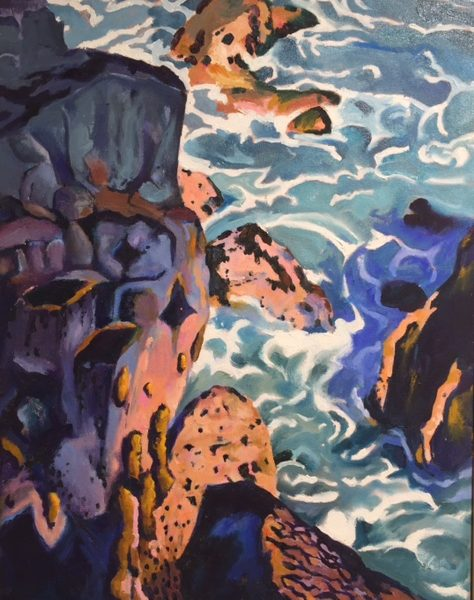 Sea Cliffs In Shade