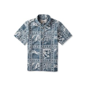 Aloha Shirt Volcano Park Blue