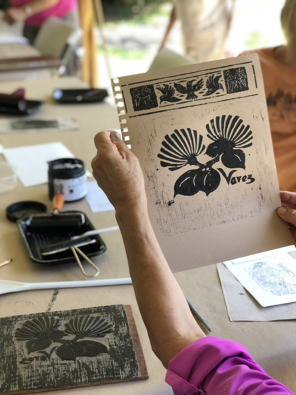 VACs Legacy Program Has Inspired A New Series Of Hawaiian Values Printmaking Classes Beginning In September Using Collection Donated Linoleum Block