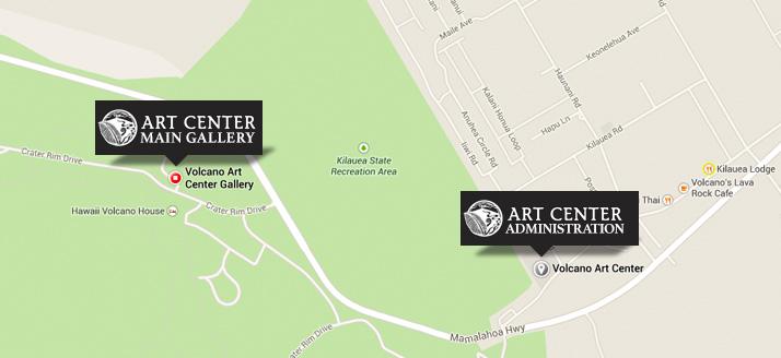 Contact Map Volcano Art Center