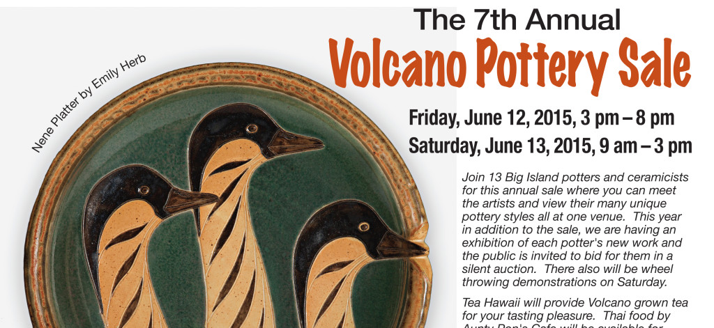 The 7th Annual Volcano Pottery Sale