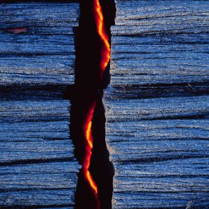 Hot Lava From Kilauea Volcano in Hawaii Volcanoes National Park Big Island of Hawaii