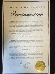 Mayor Proclamation for Dietrich Varez