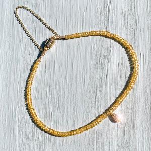 Drop of Sunshine Sapphire & Diamond Bracelet.