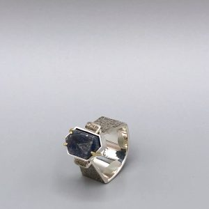 Record Keeper Ring Sterling 18K natural record keeper sapphire) by Kristin Mitsu Shiga