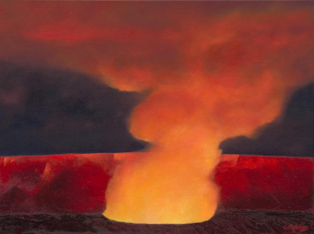 Summit Eruption of Kilauea Volcano, Card Collection III by Catherine Robbins