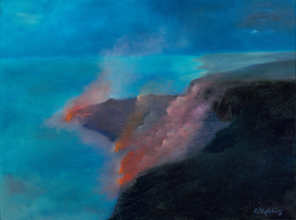 Lava to the Sea, Print by Catherine Robbins