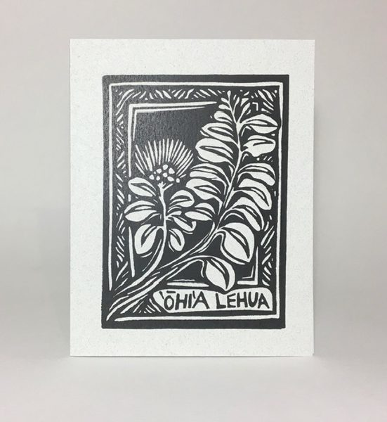 Ohia Lehua Card