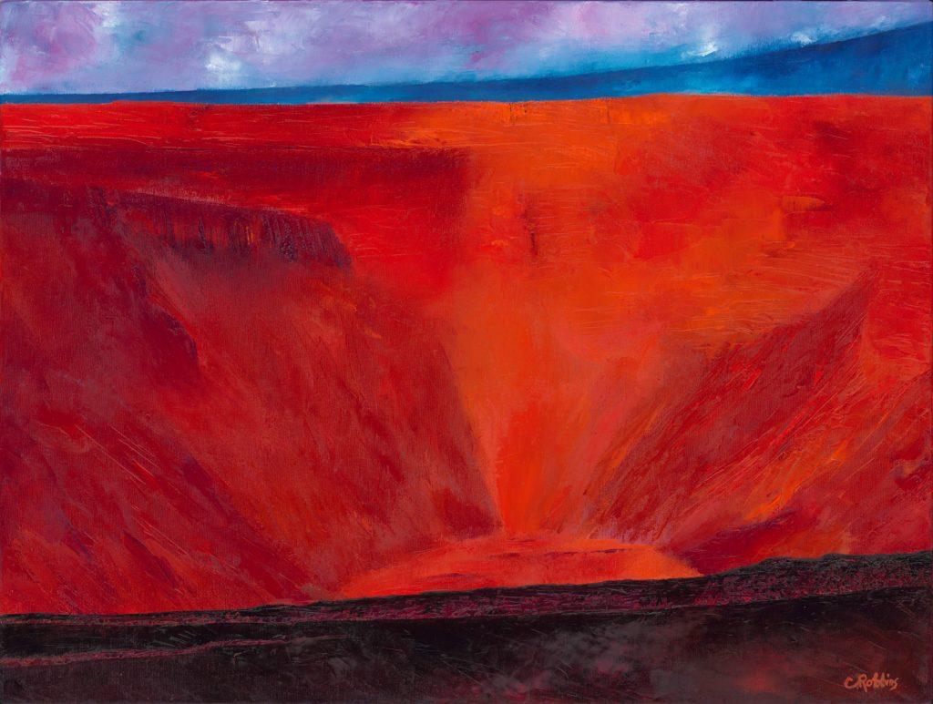 The Cliffs of Halema'uma'u by Catherine Robbins